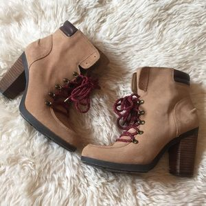 Gianni bini heeled suede Booties
